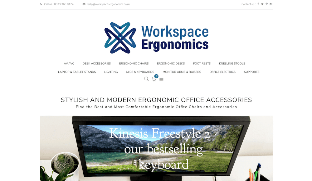 Workspace Ergonomics from Red Alpha Design - Website Design Arundel